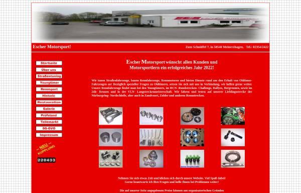 Vorschau von www.escher-motorsport.de, Escher Motorsport & Classic