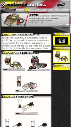 Vorschau der mobilen Webseite www.motorradstarter.de, Klaus Parthum - Motorradstarter