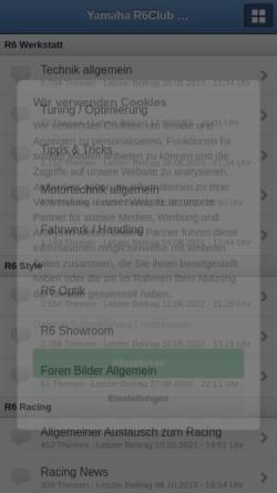 Vorschau der mobilen Webseite r6club.de, R6 Club