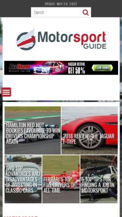 Vorschau der mobilen Webseite www.motorsport-guide.com, Motorsport-Guide.com