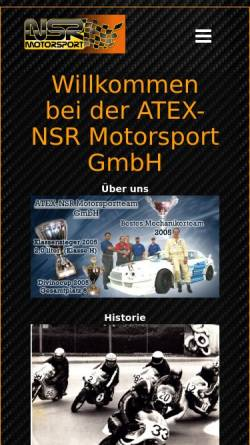 Vorschau der mobilen Webseite www.motortuner.de, NSR-Motorsport GmbH