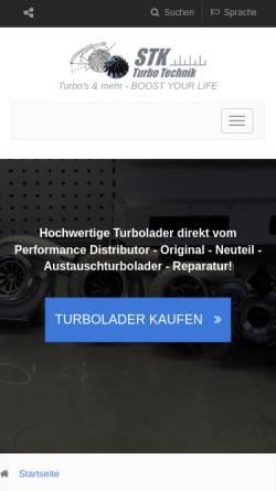 Vorschau der mobilen Webseite www.turbolader.net, STK Turbolader Technik
