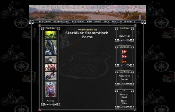 Vorschau von www.starbiker-stammtisch-portal.de, Starbiker-Stammtisch-Portal