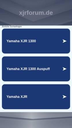 Vorschau der mobilen Webseite www.xjrforum.de, XJR Forum und Portal