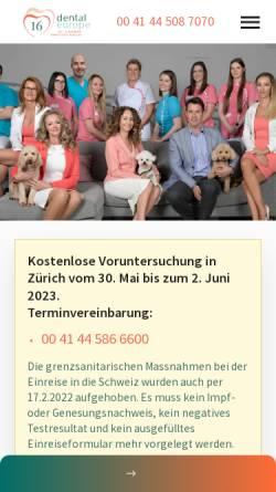 Vorschau der mobilen Webseite www.zahnarzt-in-ungarn.ch, Dental Europe
