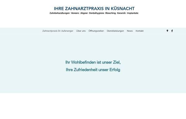 Vorschau von www.aufenanger.ch, Dr. med. dent. Judith Aufenanger
