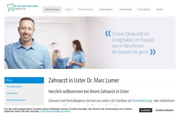 Vorschau von www.zahnarzt-lumer.ch, Dr. med. dent. Lumer