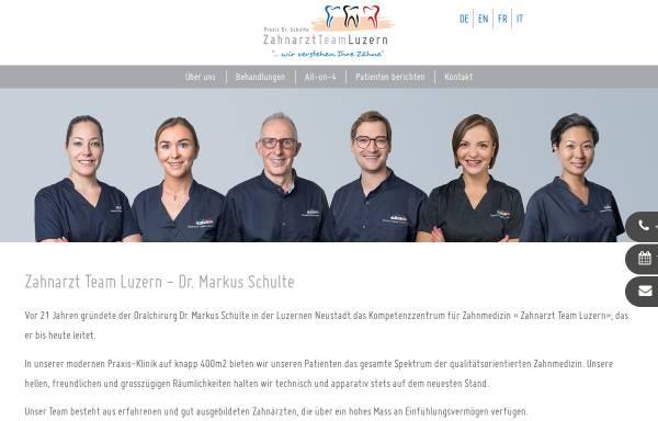 Vorschau von www.zahnarzt-team-luzern.ch, Dr. med. dent. Markus Schulte