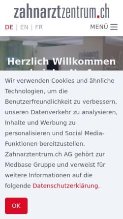 Vorschau der mobilen Webseite zahnarztzentrum.ch, Zahnarztzentrum