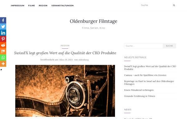 Vorschau von www.oldenburger-filmtage.de, Oldenburger Filmtage