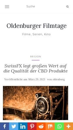 Vorschau der mobilen Webseite www.oldenburger-filmtage.de, Oldenburger Filmtage