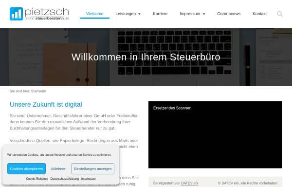 Vorschau von www.online-steuerberaterin.de, Beate Pietzsch Steuerberaterin