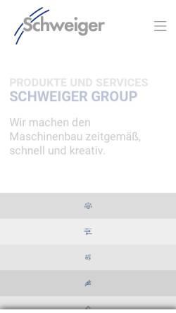 Vorschau der mobilen Webseite www.schweiger-group.de, A. Schweiger GmbH