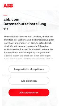 Vorschau der mobilen Webseite www.abb.de, ABB Stotz-Kontakt GmbH
