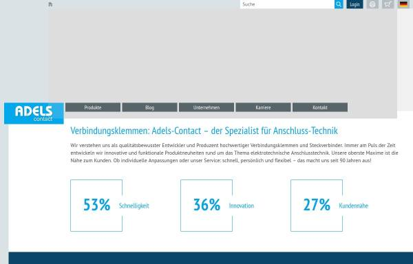 Vorschau von www.adels-contact.de, Adels-Contact Elektrotechnische Fabrik GmbH & Co. KG