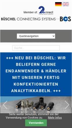 Vorschau der mobilen Webseite www.bueschel.com, Büschel Connecting Systems - J. Kauffmann & S. Wiedmann GmbH & Co. KG