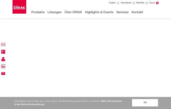 Vorschau von www.dirak.com, Dirak GmbH & Co. KG