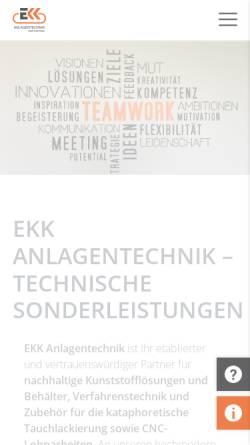 Vorschau der mobilen Webseite www.ekk-anlagentechnik.de, EKK Elektro-Kohle-Köln GmbH & Co. KG