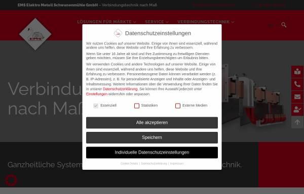 Vorschau von ems-power.com, EMS Elektro Metall Schwanenmühle GmbH