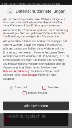 Vorschau der mobilen Webseite ems-power.com, EMS Elektro Metall Schwanenmühle GmbH