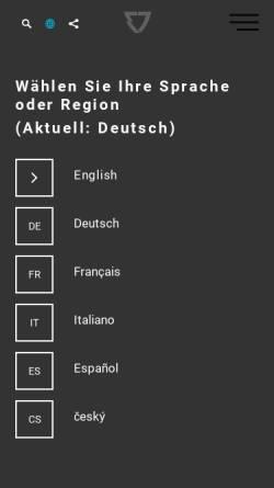 Vorschau der mobilen Webseite www.erich-jaeger.de, Erich Jaeger GmbH+Co. KG