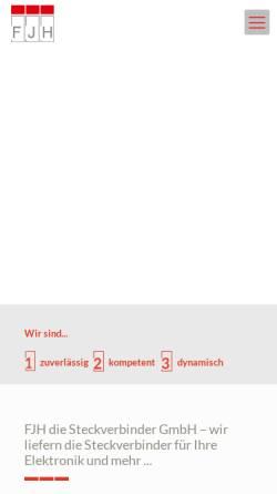 Vorschau der mobilen Webseite www.fjh.de, Franz-Josef Haxel Industrievertretungen