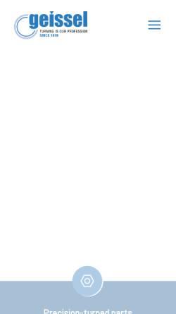 Vorschau der mobilen Webseite www.geissel.com, Geissel GmbH
