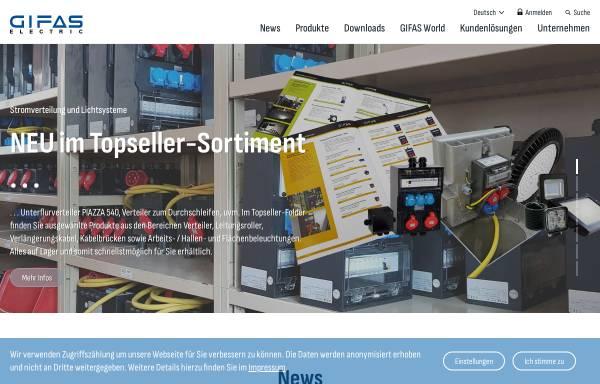 Vorschau von www.gifas.at, GIFAS-Electric GmbH