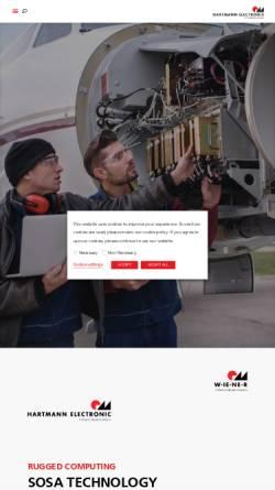 Vorschau der mobilen Webseite www.hartmann-elektronik.de, Hartmann Elektronik GmbH