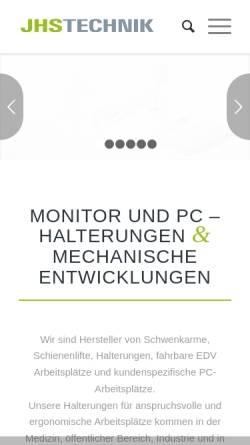 Vorschau der mobilen Webseite www.jhs-technik.de, JHS Technik, Inh. Josef Schäfer