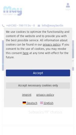 Vorschau der mobilen Webseite www.may-kg.com, May KG