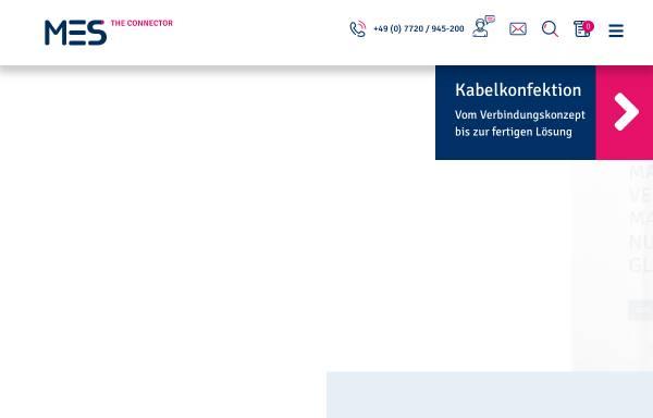 Vorschau von www.mes-electronic.de, MES Electronic Connect GmbH + Co. KG