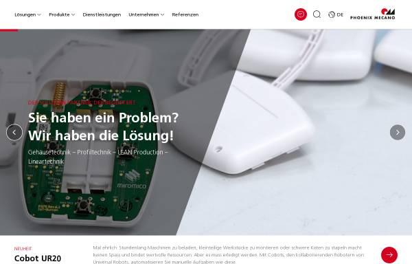 Vorschau von www.phoenix-mecano.ch, Phoenix Mecano Komponenten AG
