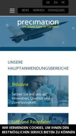 Vorschau der mobilen Webseite www.precimation.ch, Precimation AG