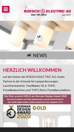 Vorschau der mobilen Webseite www.roesch-electric.ch, Roesch Electric AG