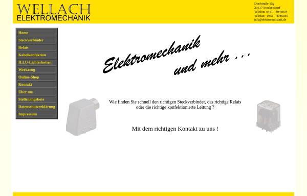 Vorschau von www.elektromechanik.de, Wellach Elektromechanik, Inh. Jörg Wellach