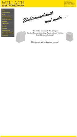 Vorschau der mobilen Webseite www.elektromechanik.de, Wellach Elektromechanik, Inh. Jörg Wellach