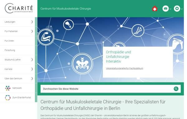 Vorschau von cmsc.charite.de, Centrum für Muskuloskeletale Chirurgie, Berlin