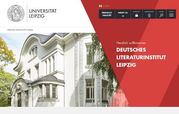Vorschau von www.deutsches-literaturinstitut.de, Deutsches Literaturinstitut Leipzig