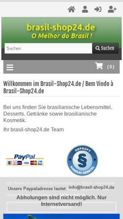 Vorschau der mobilen Webseite www.brasil-shop24.de, Brasil-shop24.de, Cassia Cristina Teixeira-Rauchholz