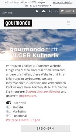 Vorschau der mobilen Webseite www.gourmondo.de, Gourmondo Feinkost-Versand