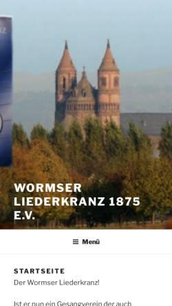 Vorschau der mobilen Webseite wormser-liederkranz.de, Wormser Liederkranz 1875 e.V.