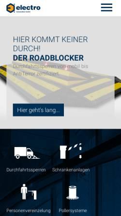 Vorschau der mobilen Webseite www.electro-automation.de, Electro Automation GmbH