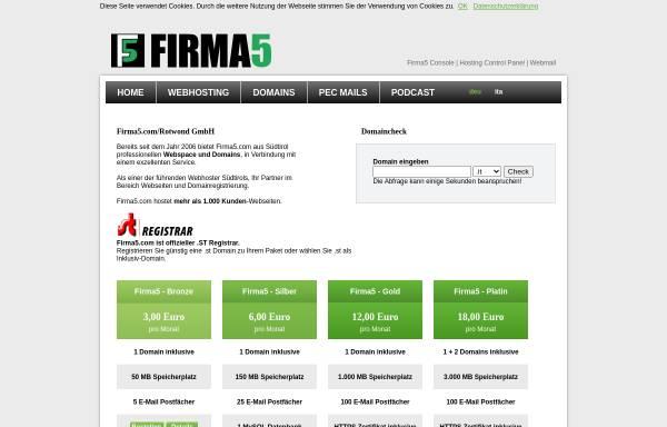 Vorschau von www.firma5.com, Firma5
