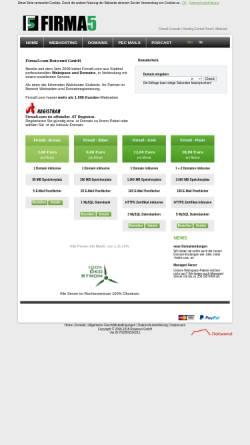 Vorschau der mobilen Webseite www.firma5.com, Firma5