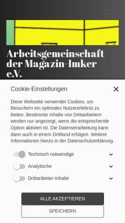 Vorschau der mobilen Webseite www.magazinimker.de, Arbeitsgemeinschaft der Magazin-Imker e.V.
