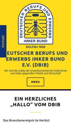 Vorschau der mobilen Webseite berufsimker.de, Deutscher Berufs- und Erwerbs Imkerbund e.V.