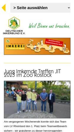 Vorschau der mobilen Webseite www.deutscherimkerbund.de, Deutscher Imkerbund e.V.