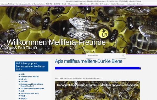 Vorschau von www.apis-mellifera-mellifera.de, Die Dunkle Biene (Apis mellifera mellifera)