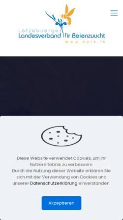 Vorschau der mobilen Webseite www.apis.lu, Luxemburger Landesverband für Bienenzucht